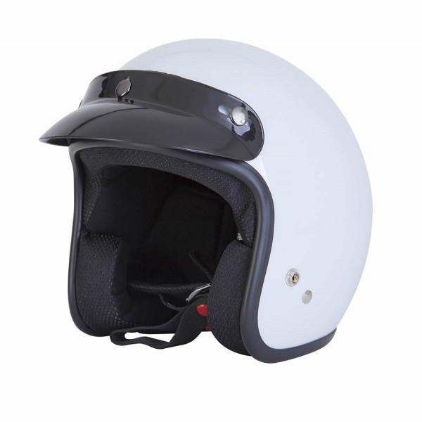 Spada Helmet Open Face Plain White