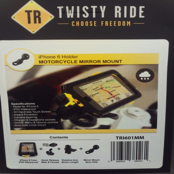 Twisty Ride Iphone 6 Mirror/scooter Mount 9Mm