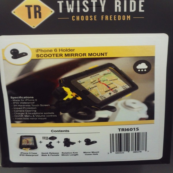 Twisty Ride Iphone 6 Mirror/scooter Mount 11Mm