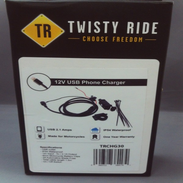 Twisty Ride Iphone 12V Usb Charger (Motorcycle & Scooter)