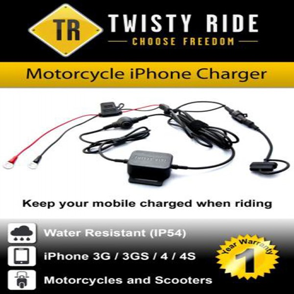 Twisty Ride Iphone 3G/4/4S Charger (Motorcycles & Scooter)