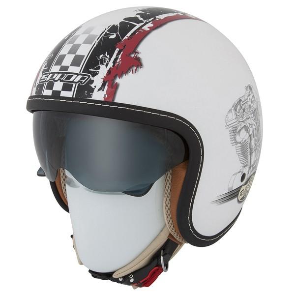 Spada Helmet Raze Revolution White & Red