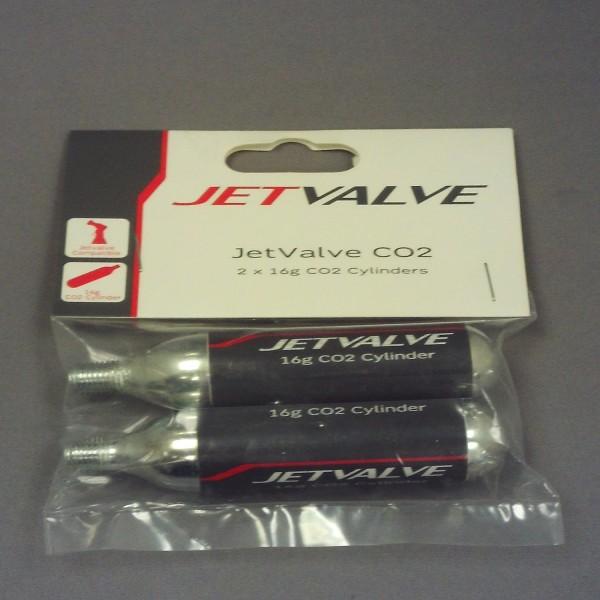 Weldtite Jetflate Co2 Refill Cylinders 16G [Pk 2] (7007)