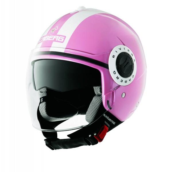 Caberg Riviera V2+ Legend Pink & White