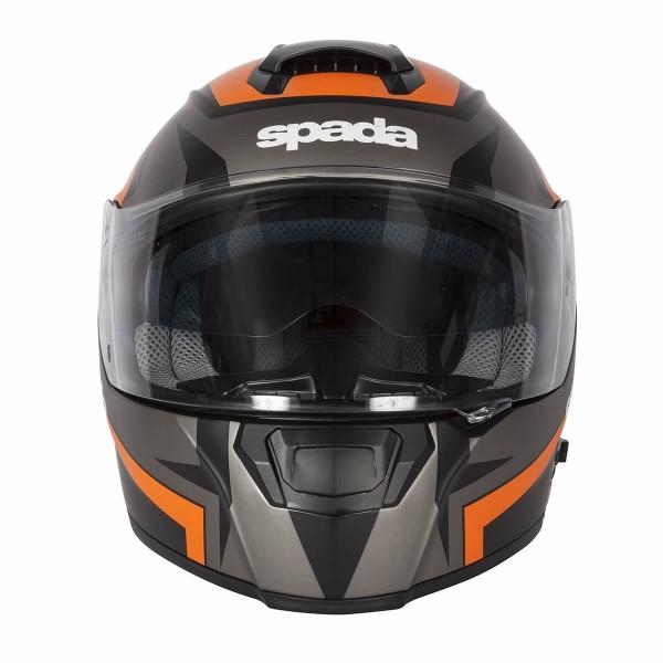 Spada Helmet Sp16 Voltor Matt Black & Orange & Silver