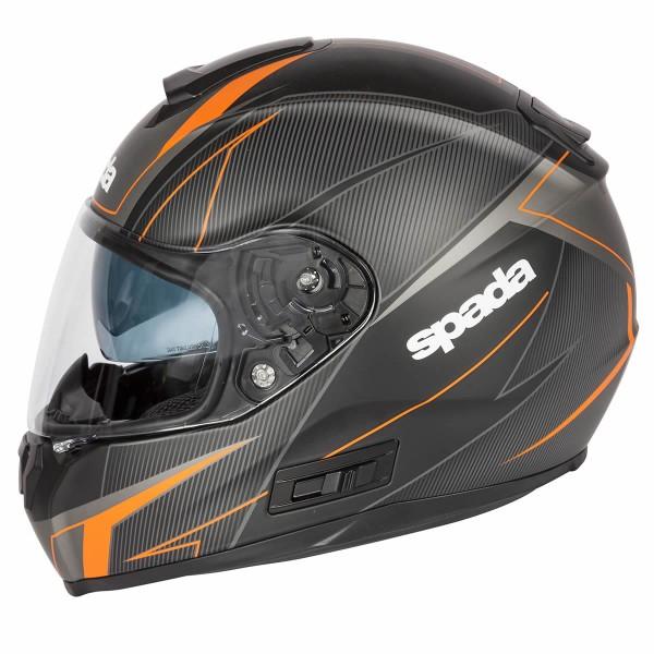 Spada Sp16 Linear Helmet Matt Black & Orange & Silver