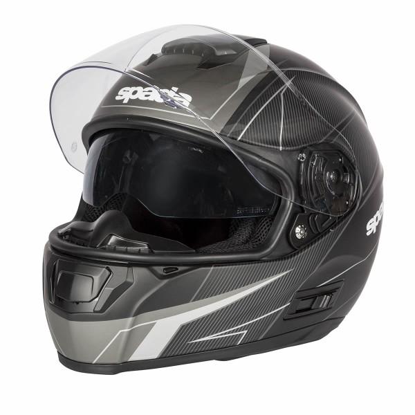 Spada Sp16 Linear Helmet Matt Black & Silver & Anthracite