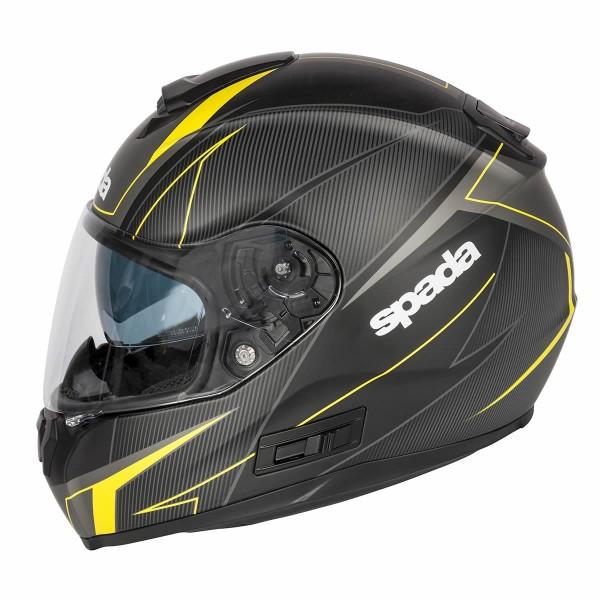 Spada Sp16 Linear Helmet Matt Black & Yellow & Anthracite
