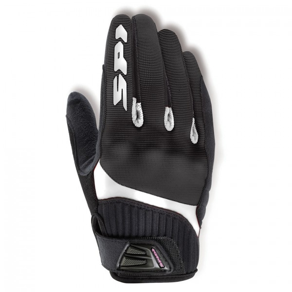 Spidi Gb G-Flash Lady Textile Gloves Black & White