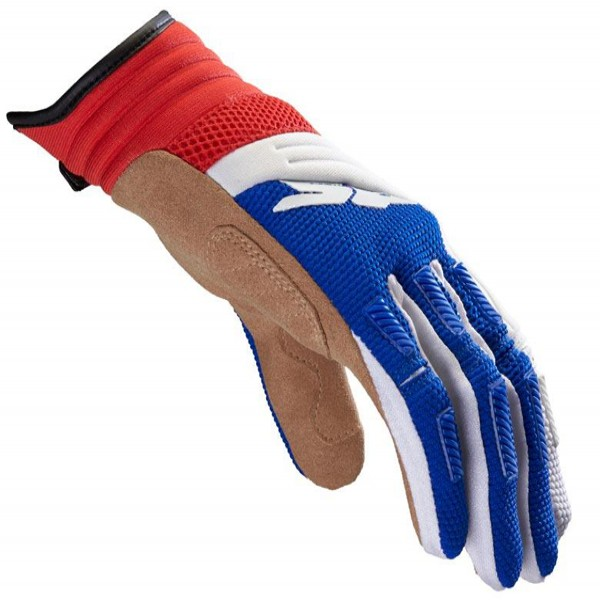 Spidi It Mega-X Youth Textile Gloves White & Blue & Red