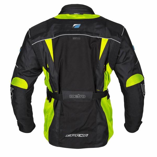 Spada Textile Jacket Metro Wp Black & Fluo