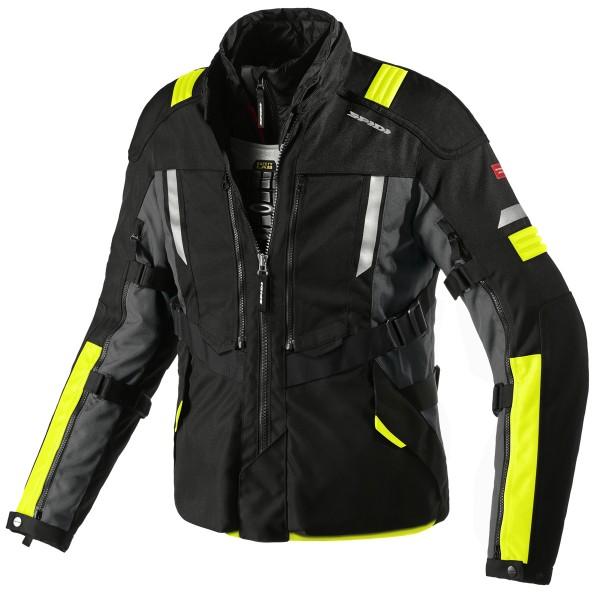 Spidi Gb H2Out Modular Jacket Black Fluo Yellow
