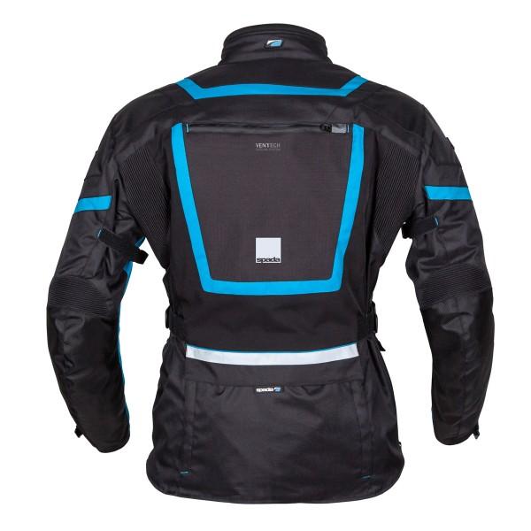 Spada Base Textile Jacket - Black & Blue