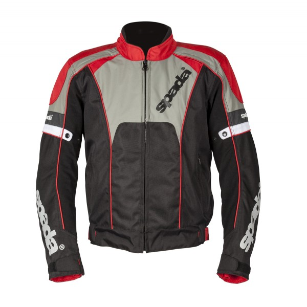 Spada Burnout 2 Textile Jacket Black & Red & Grey