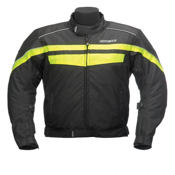 Spada Energy Textile Jacket - Black & Fluo