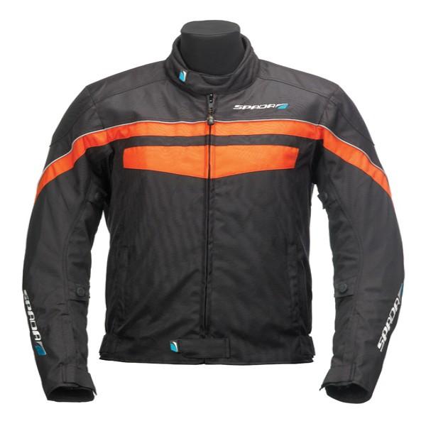Spada Energy Textile Jacket - Black & Orange