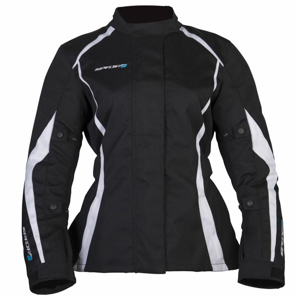 Spada Textile Jacket Planet Ladies Black & White