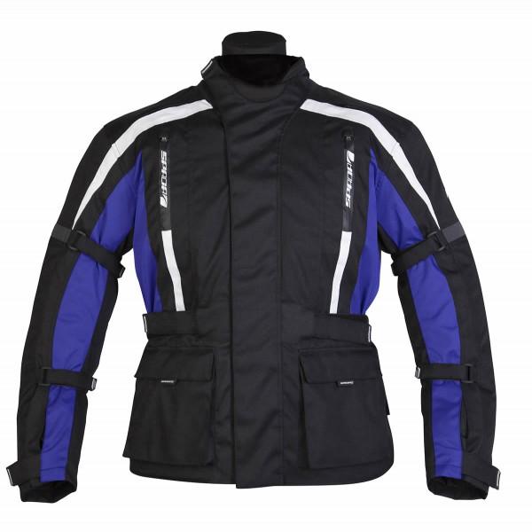 Spada Core Textile Jacket - Black & Blue