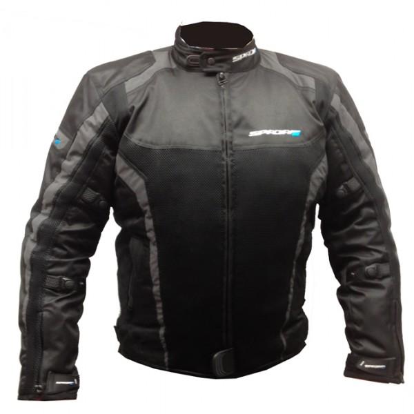 Spada Corsa Gp Air Textile Jacket - Black & Grey