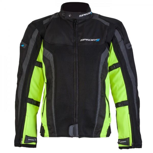 Spada Corsa Gp Air Textile Jacket - Black & Fluo