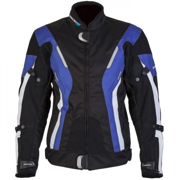 Spada Curve Textile Jacket -  Black & Blue & White