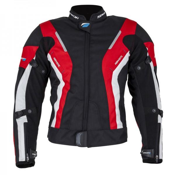 Spada Curve Ladies Textile Jacket - Black & Red