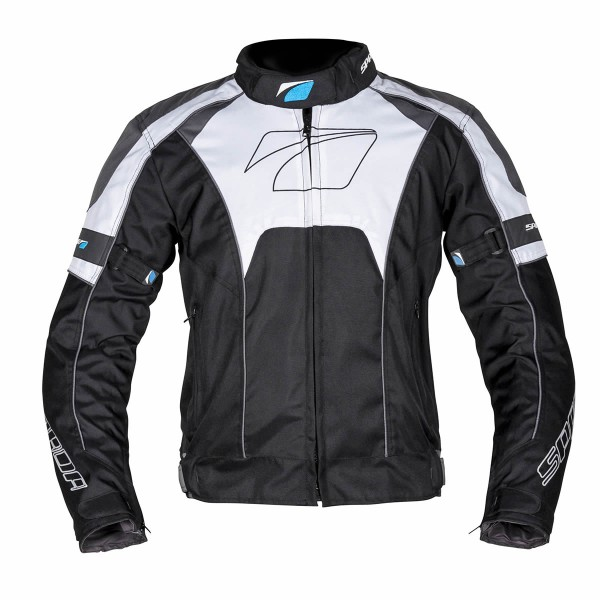 Spada Burnout Textile Jacket - Black & Grey & White