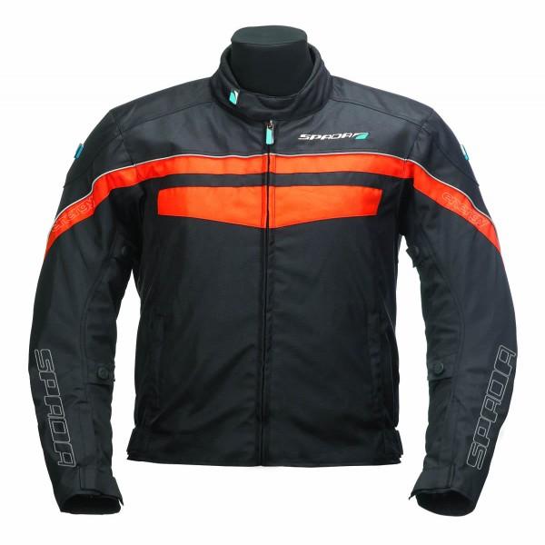 Spada Energy 2 Textile Jacket - Black & Orange