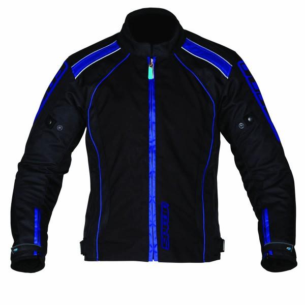 Spada Plaza Textile Jacket - Black & Blue