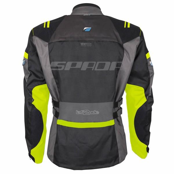 Spada Lati2Ude Textile Jacket - Black & Flou