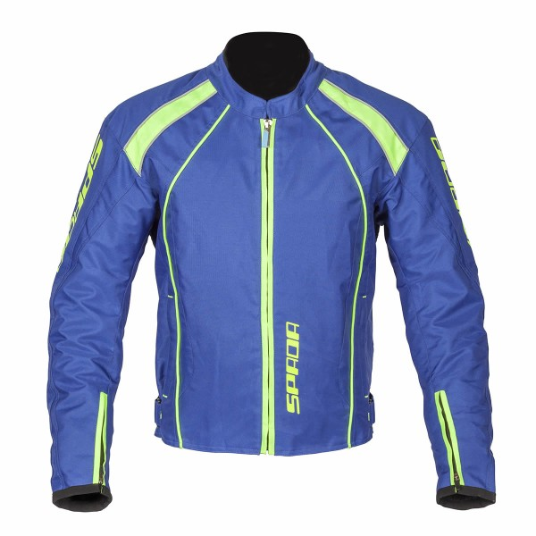Spada Plaza Textile Jacket - Blueberry/lime