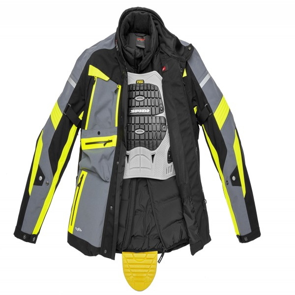 Spidi Gb H2Out Globetracker Jacket Black Fluo Yellow