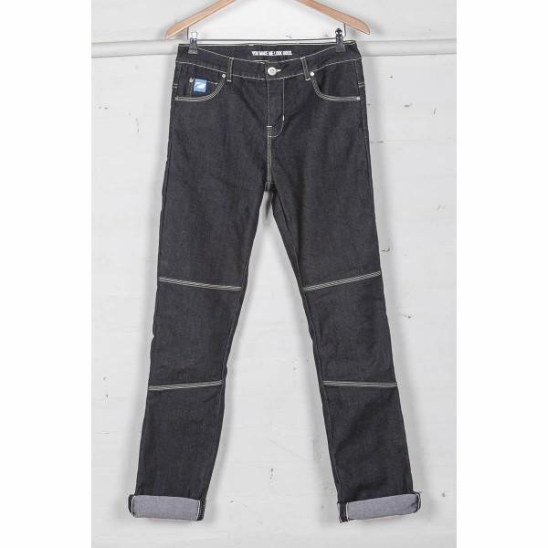 Spada Rigger Selvedge Ladies Denim Jeans - Short Leg Grey