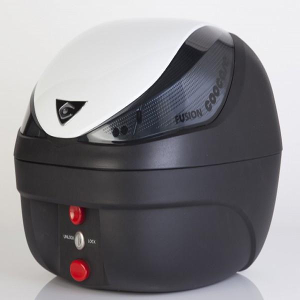 Coocase Fusion Basic V28-Bs Top Case Smoke Lens  White Lid