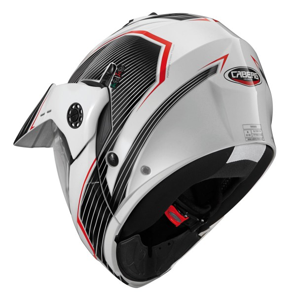Caberg Tourmax Sonic White & Black & Red
