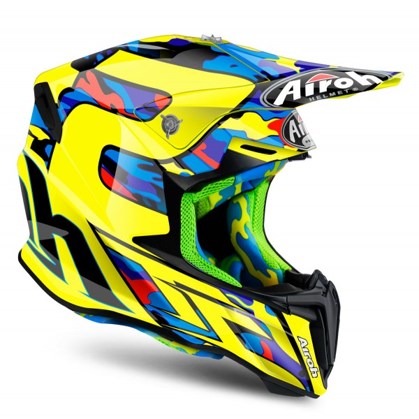 AIROH Twist Tc16 Yellow & Black Xxl Special