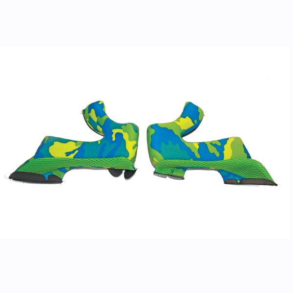 AIROH Cheek Pads Twist Yellow & Blue