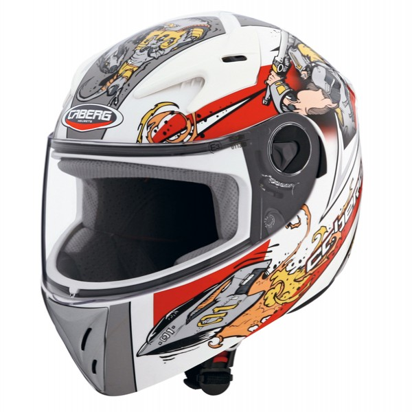 Caberg V-Kid Warrior White & Red
