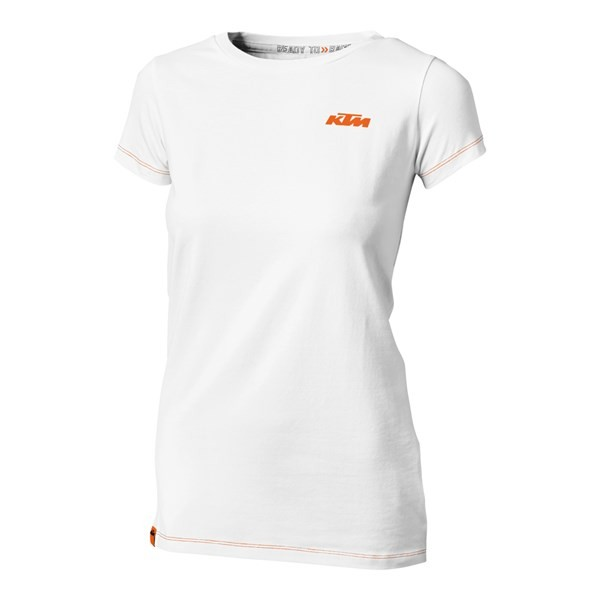 Girls Racing Tee White