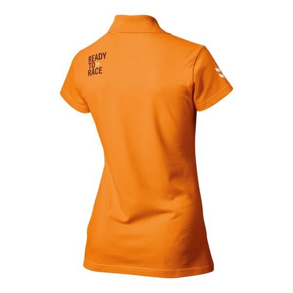 Girls Racing Polo Orange