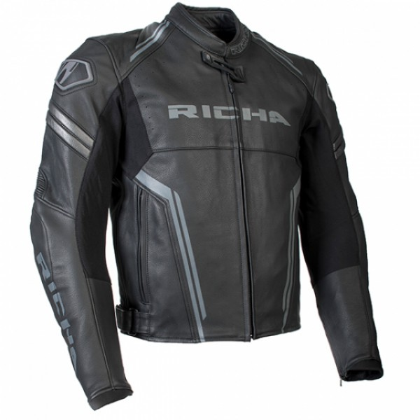 Richa Monza Leather Sports Jacket - Black