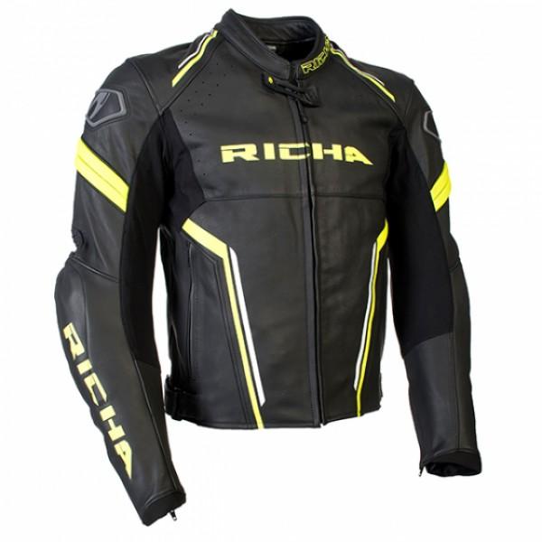 Richa Monza Jacket Black & Fluo