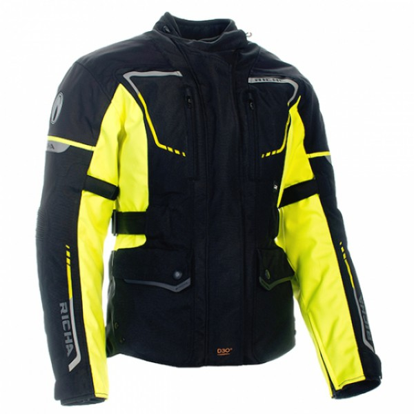 Richa Phantom 2 Textile Jacket - Black / Fluo