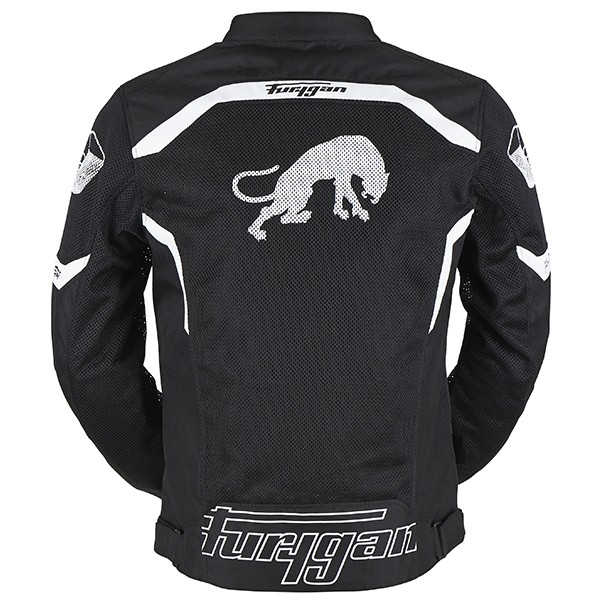 Furygan Arrow Vented Jacket Black & White