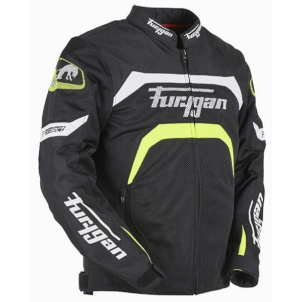 Furygan Arrow Vented Jacket Black & Yellow