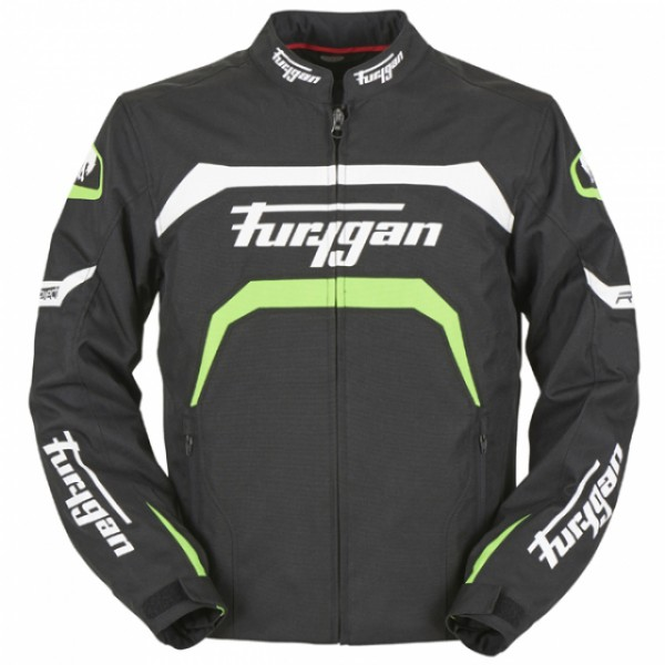 Furygan Arrow Jacket Black & White & Green