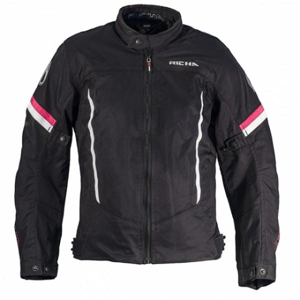 Richa Eve Jacket Black & White & Pink