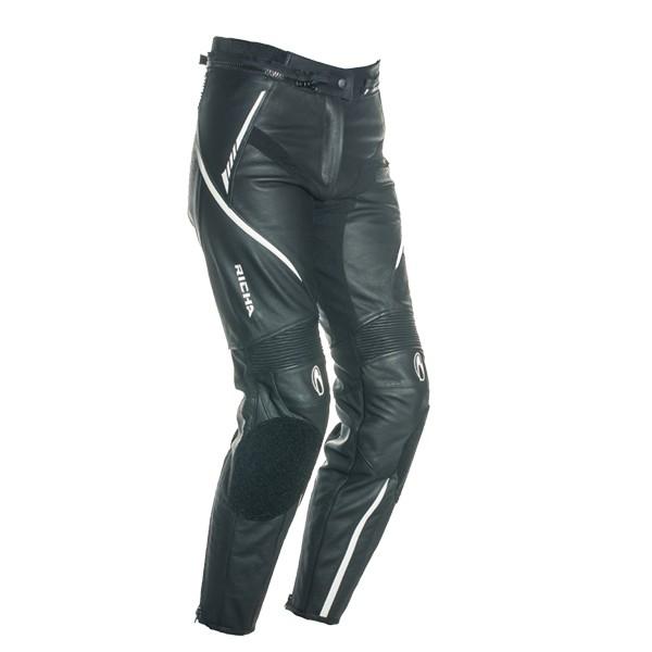 Richa Nikki Ladies Leather Trousers Black & White