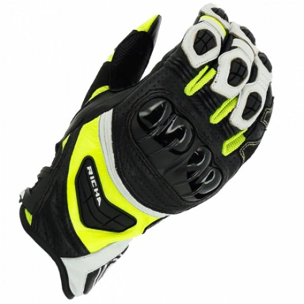 Richa Stealth Glove Black & White & Yellow