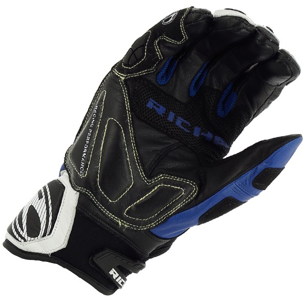 Richa Stealth Glove Black & White & Blue